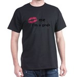 Kiss Me Im a Geek.png Dark T-Shirt