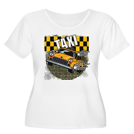 TAXI Women's Plus Size Scoop Neck T-Shirt
