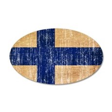 Finland Flag 20x12 Oval Wall Decal