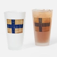Finland Flag Drinking Glass