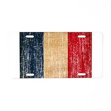 France Flag Aluminum License Plate