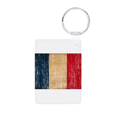 France Flag Aluminum Photo Keychain