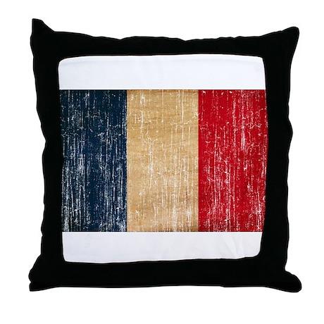 France Flag Throw Pillow