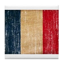 France Flag Tile Coaster