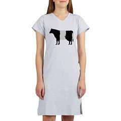 Cow Icon (XL) Women's Nightshirt