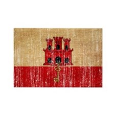 Gibraltar Flag Rectangle Magnet