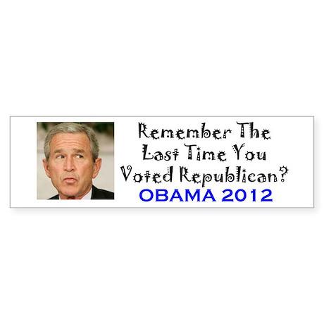 Remember - Obama 2012 Bumper Sticker