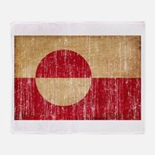Greenland Flag Throw Blanket