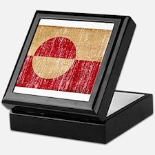 Greenland Flag Keepsake Box