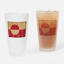 Greenland Flag Drinking Glass