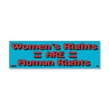 Women's Rights Car Magnet 10 x 3