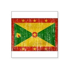 """Grenada Flag Square Sticker 3"""" x 3"""""""