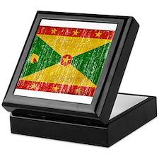 Grenada Flag Keepsake Box