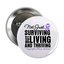 """Thriving Cancer Survivor 2.25"""" Button"""