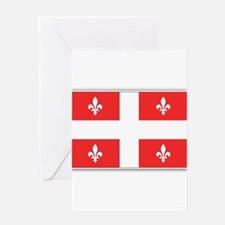 Drapeau Quebec Rouge Greeting Card