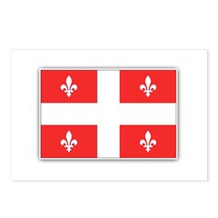 Drapeau Quebec Rouge Postcards (Package of 8)