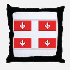 Drapeau Quebec Rouge Throw Pillow