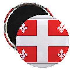 Drapeau Quebec Rouge Magnet