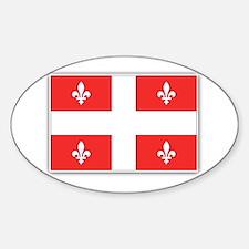 Drapeau Quebec Rouge Decal