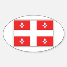 Drapeau Quebec Rouge Sticker (Oval)
