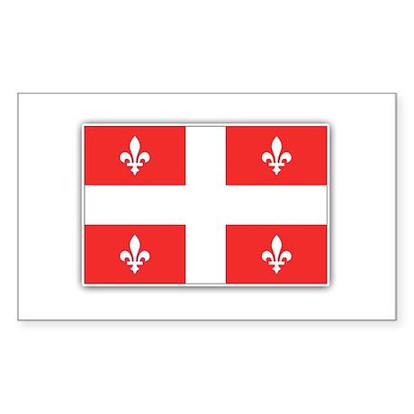 Drapeau Quebec Rouge Sticker (Rectangle)