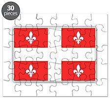 Drapeau Quebec Rouge Puzzle