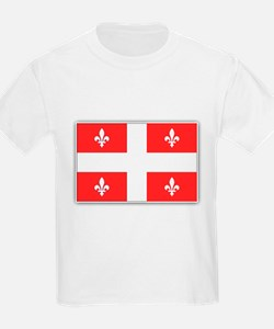 Drapeau Quebec Rouge T-Shirt
