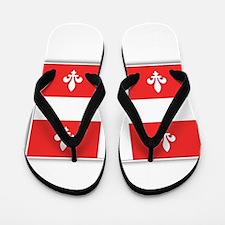 Drapeau Quebec Rouge Flip Flops