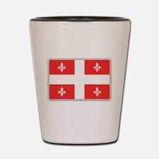 Drapeau Quebec Rouge Shot Glass