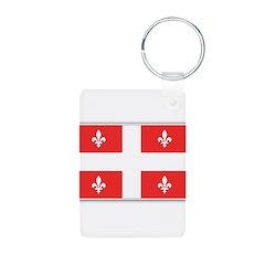 Drapeau Quebec Rouge Keychains