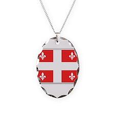 Drapeau Quebec Rouge Necklace