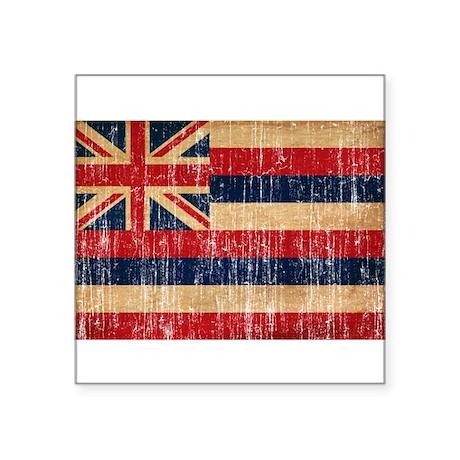 """Hawaii Flag Square Sticker 3"""" x 3"""""""