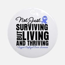 Thriving Esophageal Cancer Ornament (Round)