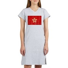Hong Kong Flag Women's Nightshirt