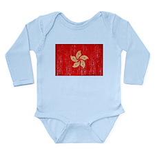 Hong Kong Flag Long Sleeve Infant Bodysuit