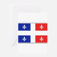 Drapeau Quebec Bleu Rouge Greeting Card