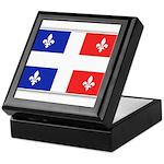 Drapeau Quebec Bleu Rouge Keepsake Box