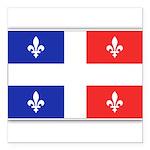 Drapeau Quebec Bleu Rouge Square Car Magnet 3