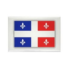 Drapeau Quebec Bleu Rouge Rectangle Magnet
