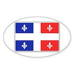 Drapeau Quebec Bleu Rouge Sticker (Oval 50 pk)