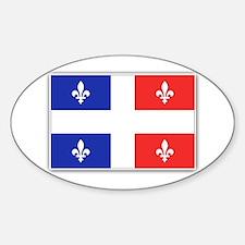 Drapeau Quebec Bleu Rouge Sticker (Oval)