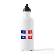 Drapeau Quebec Bleu Rouge Water Bottle