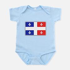 Drapeau Quebec Bleu Rouge Infant Bodysuit