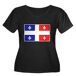 Drapeau Quebec Bleu Rouge Women's Plus Size Scoop