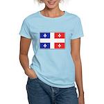 Drapeau Quebec Bleu Rouge Women's Light T-Shirt