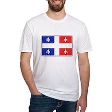 Drapeau Quebec Bleu Rouge Shirt