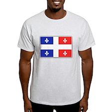 Drapeau Quebec Bleu Rouge T-Shirt