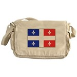 Drapeau Quebec Bleu Rouge Messenger Bag