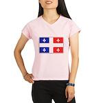 Drapeau Quebec Bleu Rouge Performance Dry T-Shirt