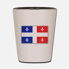 Drapeau Quebec Bleu Rouge Shot Glass
